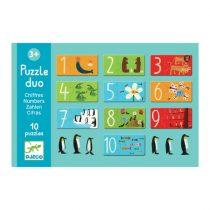 Puzzle Duo Pentru Copii - Numere Și Animale