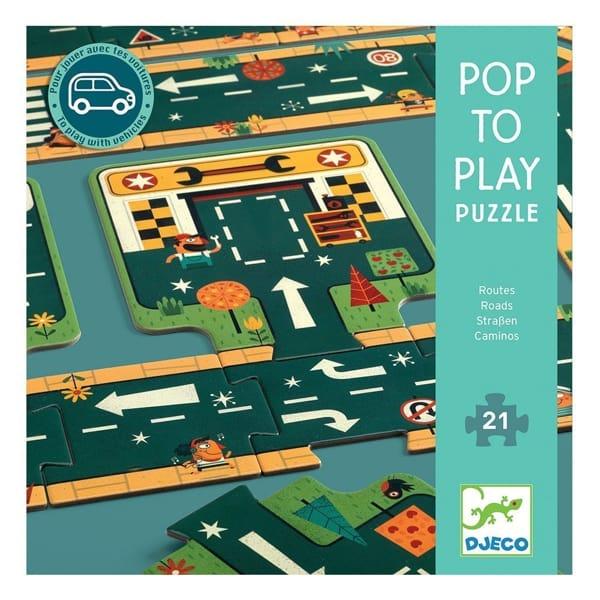 Puzzle Podea Cu Șosele Și Trasee Auto