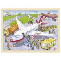 Puzzle Încastru Din Lemn - Pe Pista Aeroportului