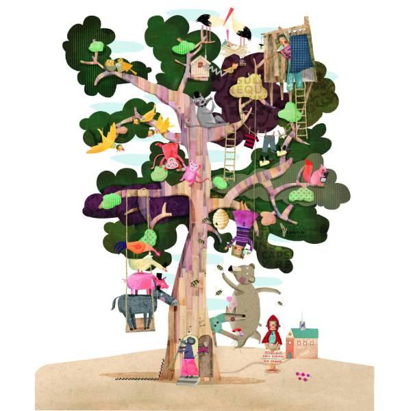 Puzzle Reversibil Gigant Copacul Meu-2