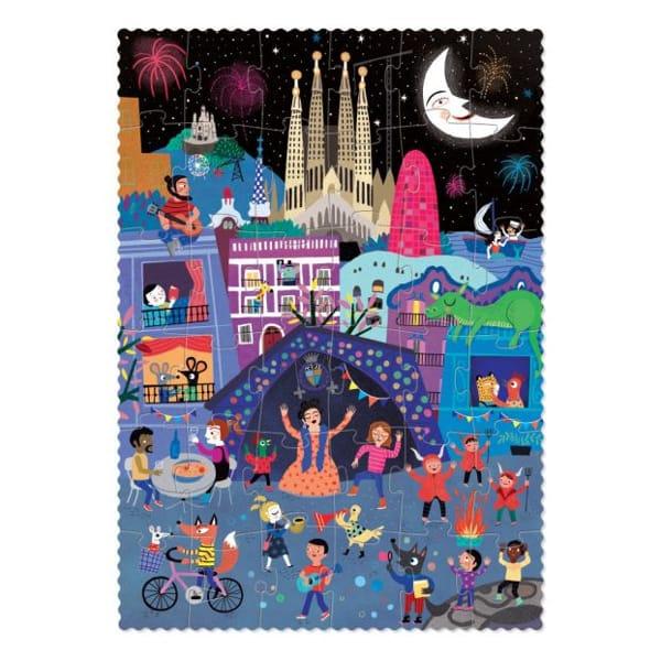 Puzzle Reversibil Zi și Noapte În Barcelona-2