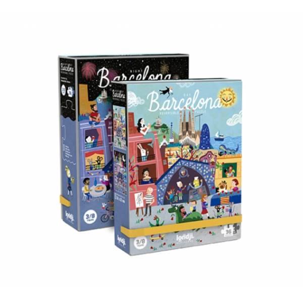 """Puzzle Reversibil """"Zi și Noapte În Barcelona"""""""
