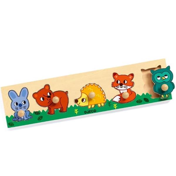 Puzzle Incastru Din Lemn – Animalele Din Pădure