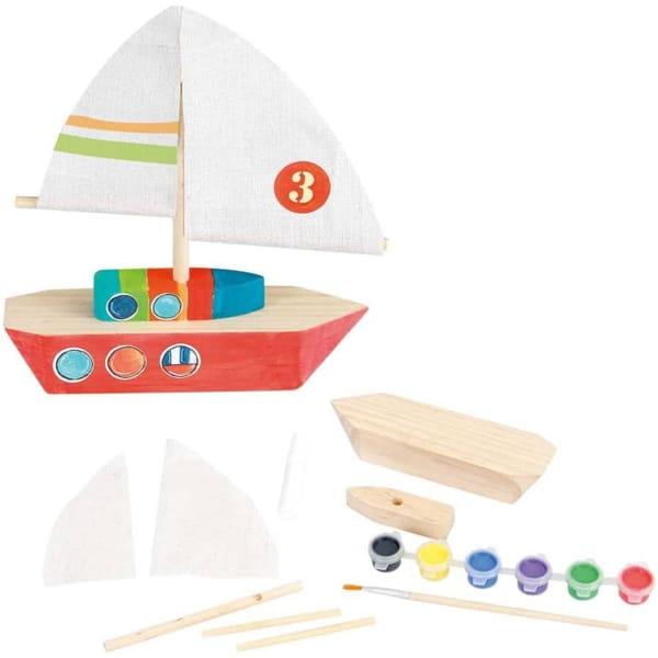 """Set De Confecționat """"Barcă din Lemn"""""""