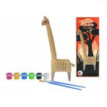 Set De Pictură - Girafă Din Lemn