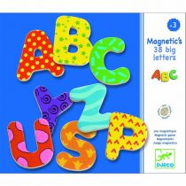 Set Litere Magnetice Din Lemn Pentru Copii ( 38 Litere)