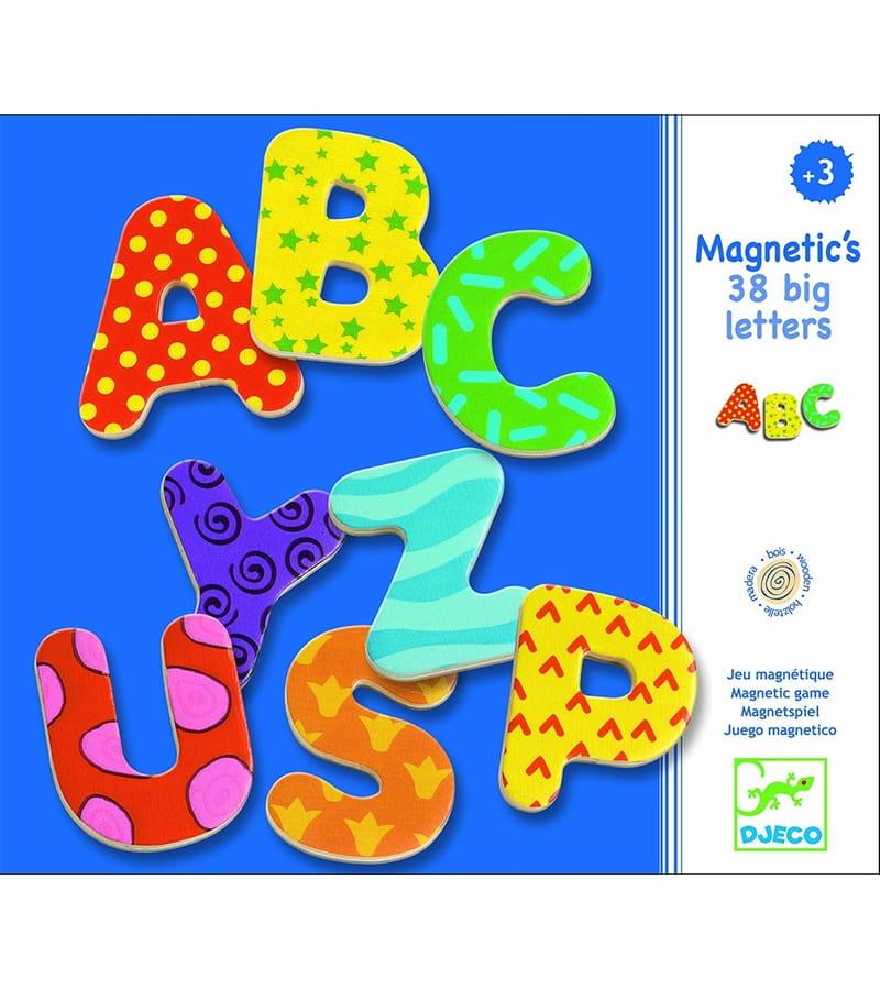 Alfabet Litere Magnetice Mari (38 Litere)