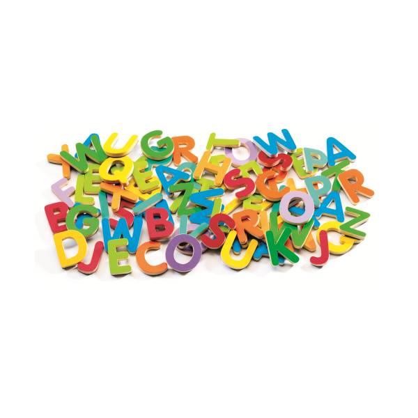 Set Litere Magnetice Din Lemn Pentru Copii (83 Litere)1