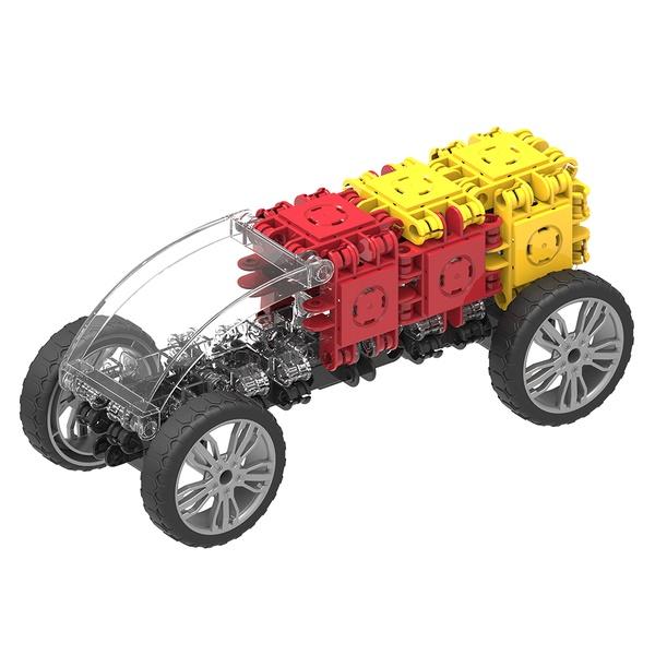 Set Magnetic De Construit Mașini De Viteză (5)