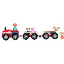 Tractor ferma jucarie din lemn