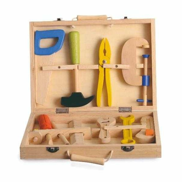 Trusa cu scule din lemn pentru copii