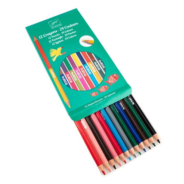 12 Creioane Duble Pentru Colorat-2