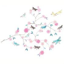 """Abțibilduri De Perete """"Flori Și Libelule"""""""