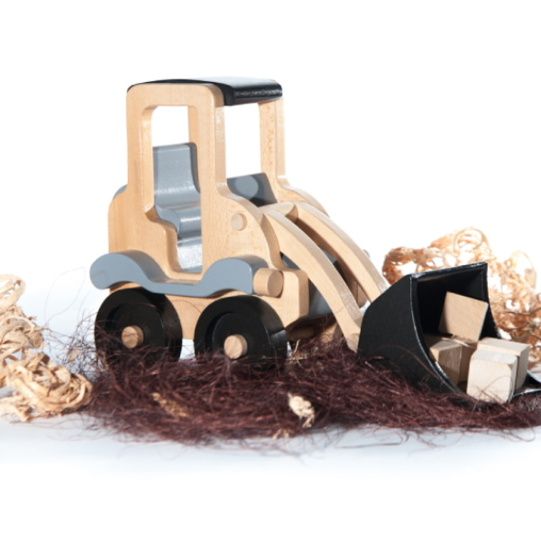 Jucărie Handmade – Excavator Din Lemn-3