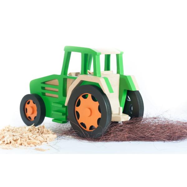 Jucărie Handmade – Tractor Cu Remorcă-2