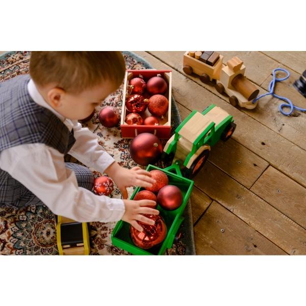 Jucărie Handmade – Tractor Cu Remorcă-4