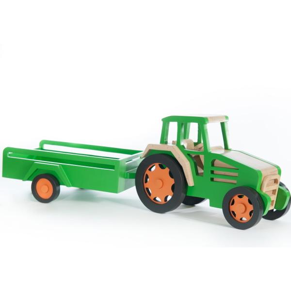 Jucărie Handmade – Tractor Cu Remorcă