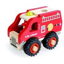 Mașină De Pompieri Din Lemn