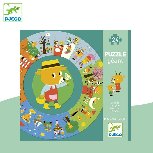 "Puzzle Circular ""Anotimpuri"" (24 Piese)"
