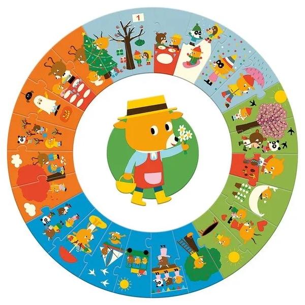 Puzzle Circular Anotimpuri (24 Piese)-3