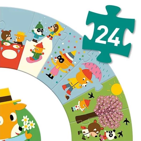 Puzzle Circular Anotimpuri (24 Piese)-4