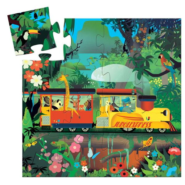 Puzzle Copii Locomotiva De Tren (16 Piese)-1