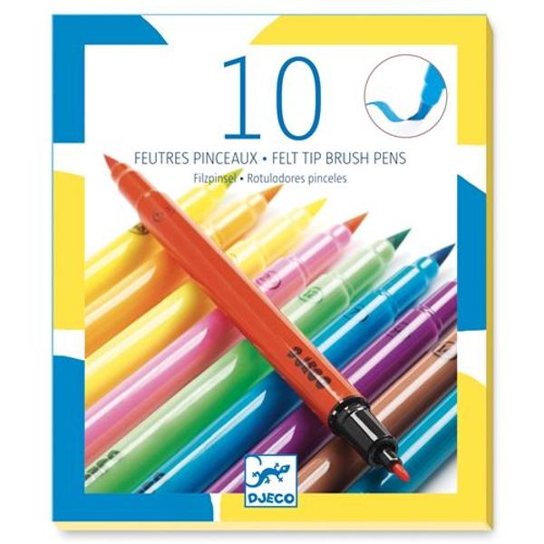 Set 10 Carioci Pensulă Culori Pop
