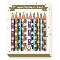 Set 10 Creioane De Colorat Metalice