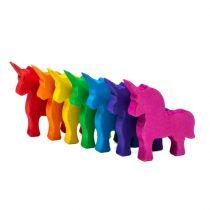 Set Handmade - Unicornii Colorați Din Lemn