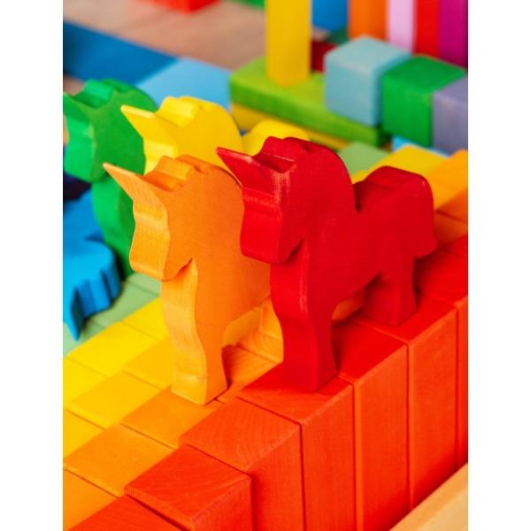 Set Handmade – Unicornii Colorați Din Lemn-5