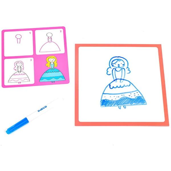 """Set Pentru Desen """"Desenează Pas Cu Pas"""" Fete-3"""