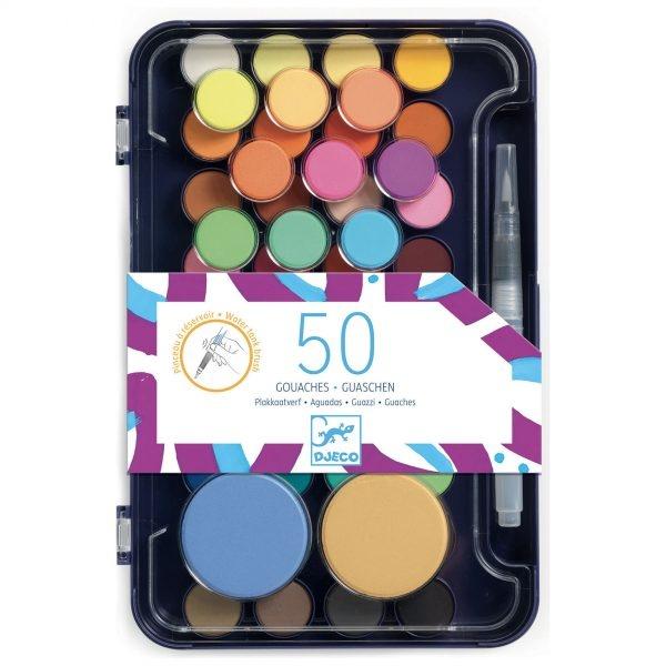50 de culori guase pentru pictat Djeco (2)