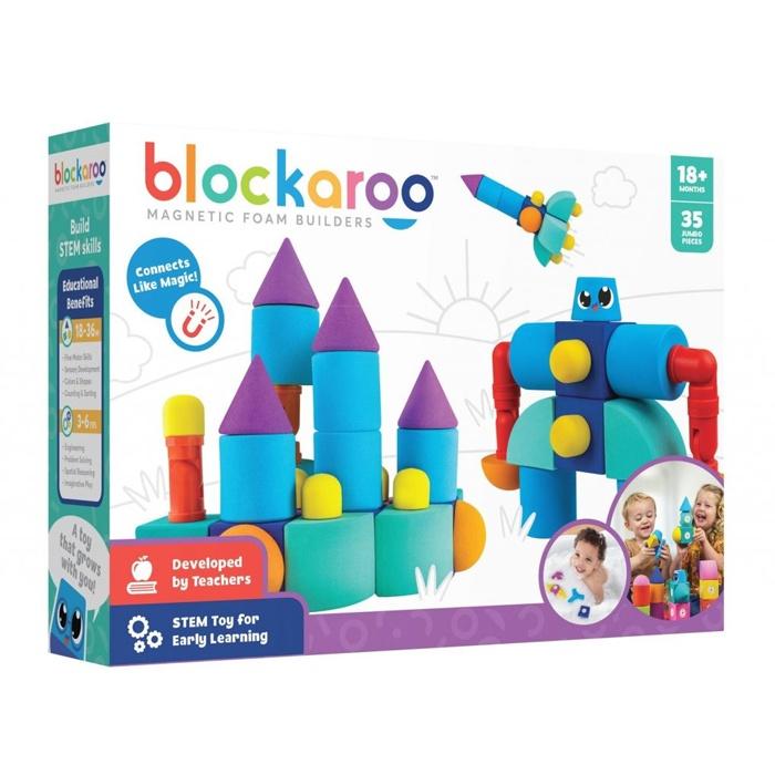 Castel Blockaroo – 35 Cuburi Magnetice Din Spumă