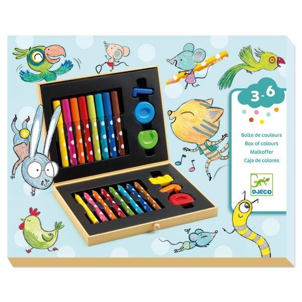 Cutie Culori Creioane Colorate Copii 3-6 Ani (3)