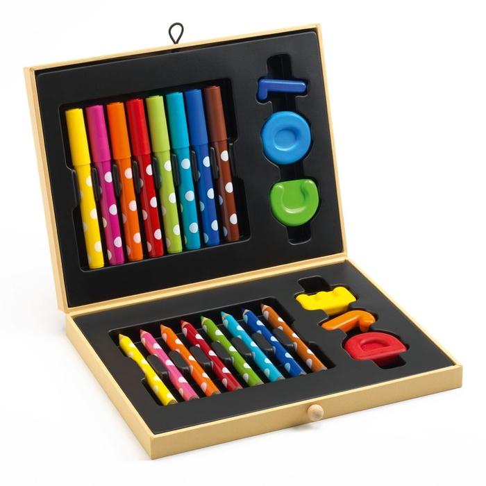 Cutie Culori Creioane Colorate Copii 3-6 Ani