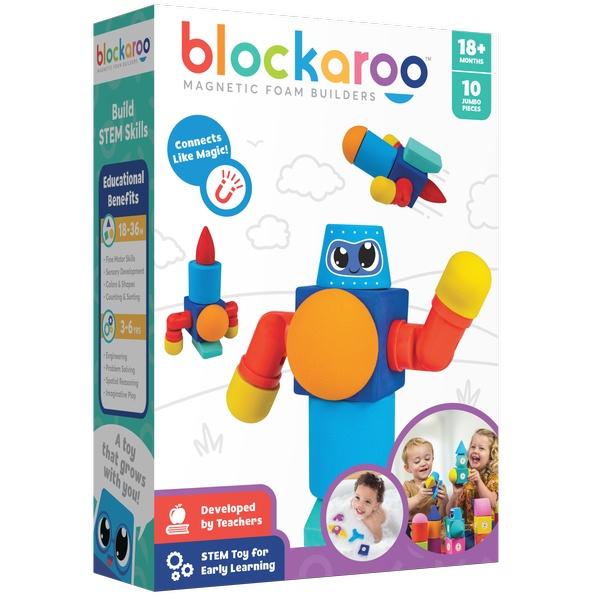 Robot Blockaroo 10 Cuburi Magnetice Din Spumă