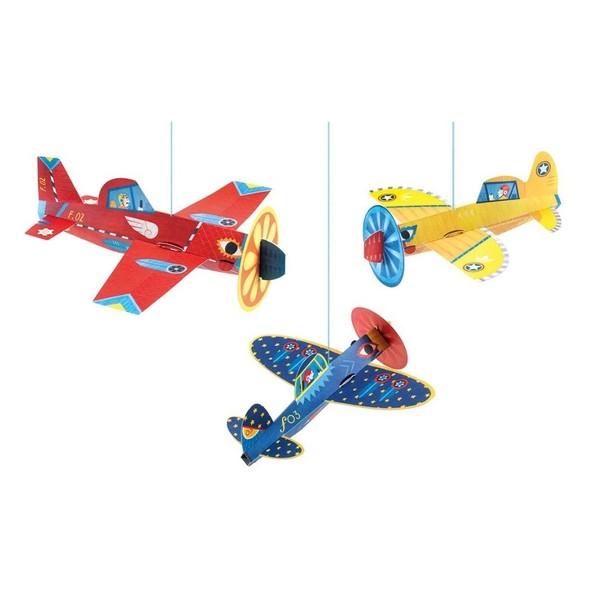 Avioane De Hartie Suspendate – Decoratie Camera Copilului