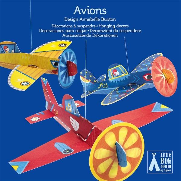 Avioane  Suspendate – Decorație Camera Copilului