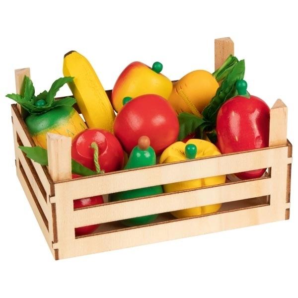 Lădiță Cu Fructe Și Legume Din Lemn