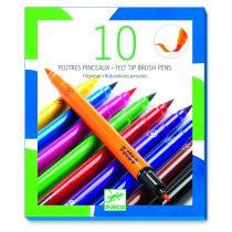 Set 10 Carioci Tip Pensulă Djeco (Culori Clasice)