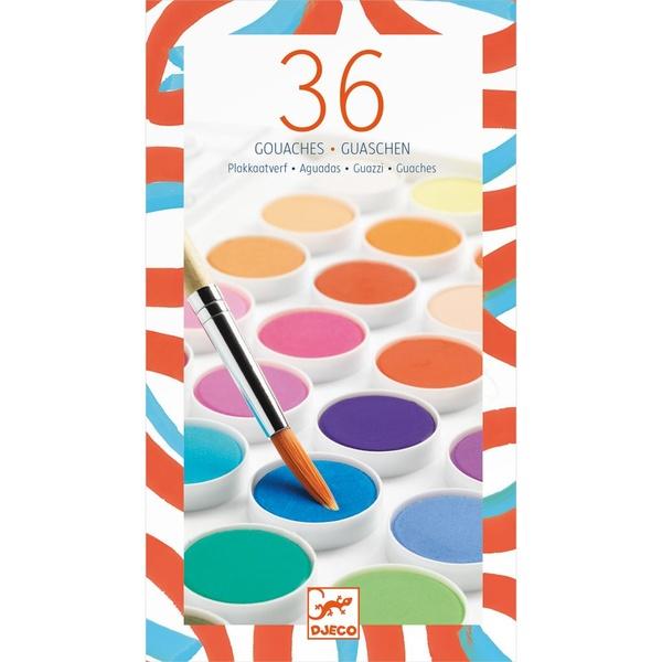 Set Guașe Djeco 36 De Culori