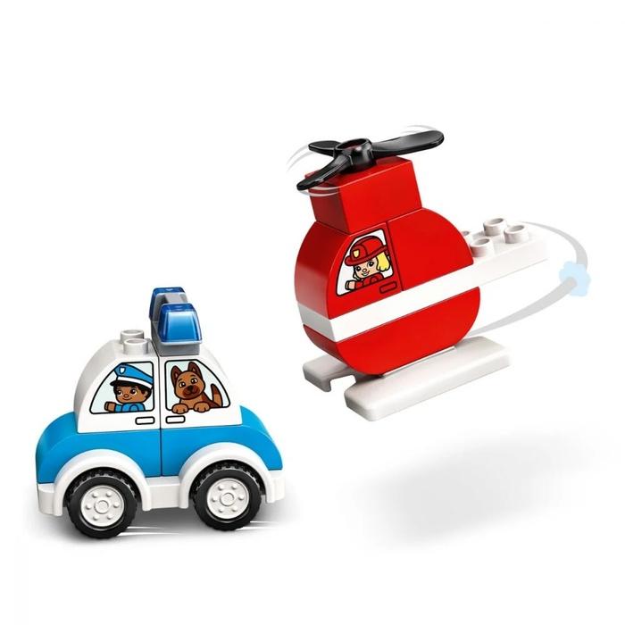 LEGO DUPLO – Elicopter De Pompieri Si Masina De Politie (3)