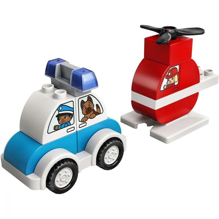 LEGO DUPLO – Elicopter De Pompieri Si Masina De Politie (4)