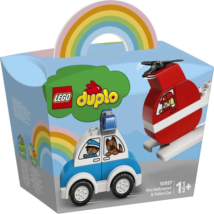 LEGO DUPLO – Elicopter De Pompieri Și Mașină De Poliție